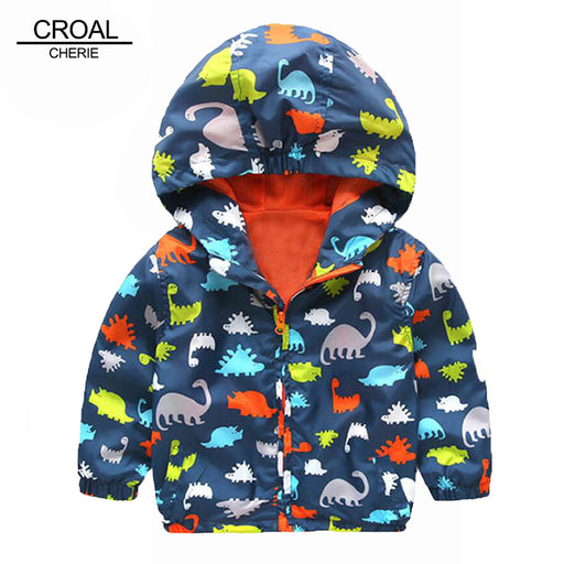 80-120cm Cute Dinosaur Spring Children Coat Autumn Kids Jacket Boys Outerwear Coats Active Boy Windbreaker Baby Clothes Clothing - KiddyLanes