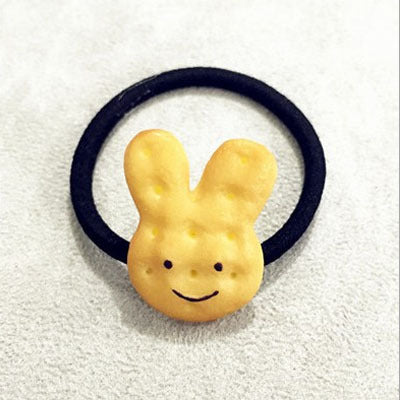 1PCS Scrunchy Girls Cute Simulated Biscuits Cartoon Shape Hair Clip Headbands Hairpins Kids Hairclip Hair Band Hair Accessories - KiddyLanes