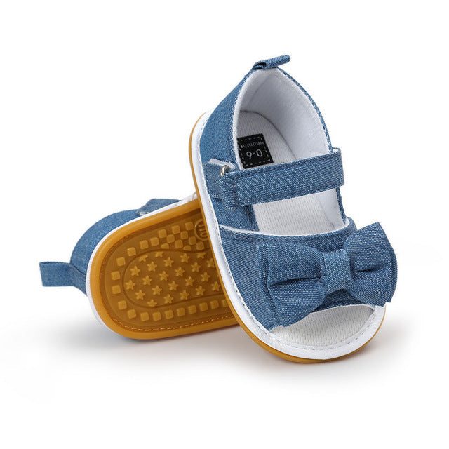 341e38b3c49b0 Hot sale New Stripe Bowtie Cute Baby moccasins child Summer girls sandals  Sneakers First walkers Infant