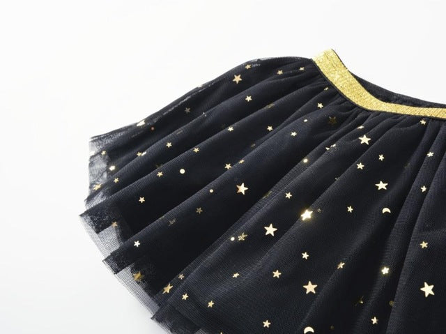 Baby Skirts For Girls Pettiskirts Tutu Five Stars Printed Ball Gown Toddler Party Kawaii Kids Skirt Children's Clothing - KiddyLanes
