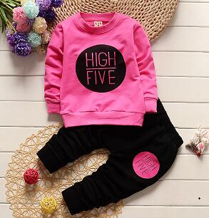 Fashion baby girls clothing set 2pcs sport suit set spring autumn toddler kids girls clothes suit casual tracksuit - KiddyLanes