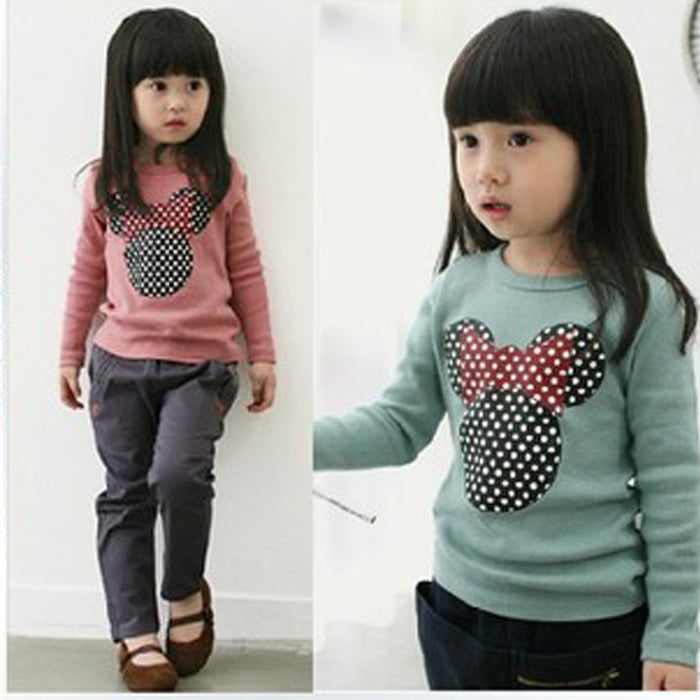 Fashion Baby Kid Long Sleeve Cat Shirt Tops Clothes Girls Blouse Shirt Size 2-10Y Girls Spring Shirts Children Cotton Clothes - KiddyLanes