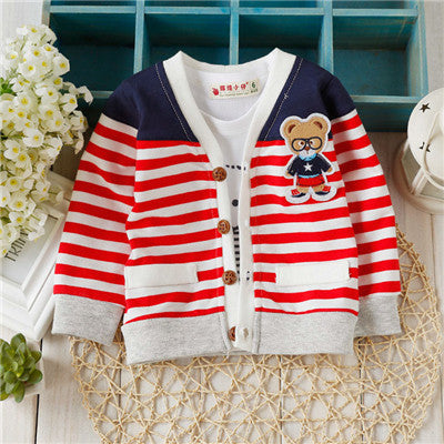 New Arrival Baby sweater Autumn Kids Boys Girls Children knitted Sweaters Shirts  Bear Teddy knit baby cardigan TN020 - KiddyLanes