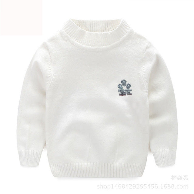 New Baby Boy Girl Clothes Kids Autumn Winter Knitted Pullovers Turtleneck Sweaters Warm Outerwear Unisex Sweaters 5 Color - KiddyLanes