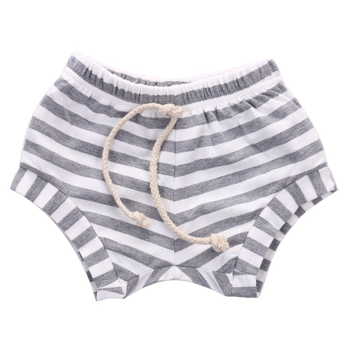 Cute Boys Girls Baby Striped Bottoms Trousers  Summer Fake  taking out rope Bloomers PP Shorts Children Pants 0-4Y - KiddyLanes