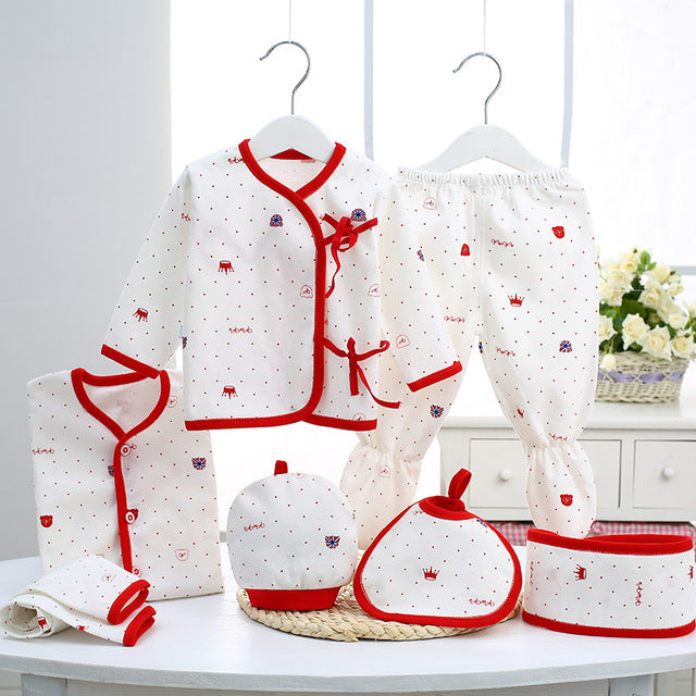 Newborn clothing Fashion cotton infant underwear baby boys girls suits set 7pices & 5 pieces clothes - KiddyLanes