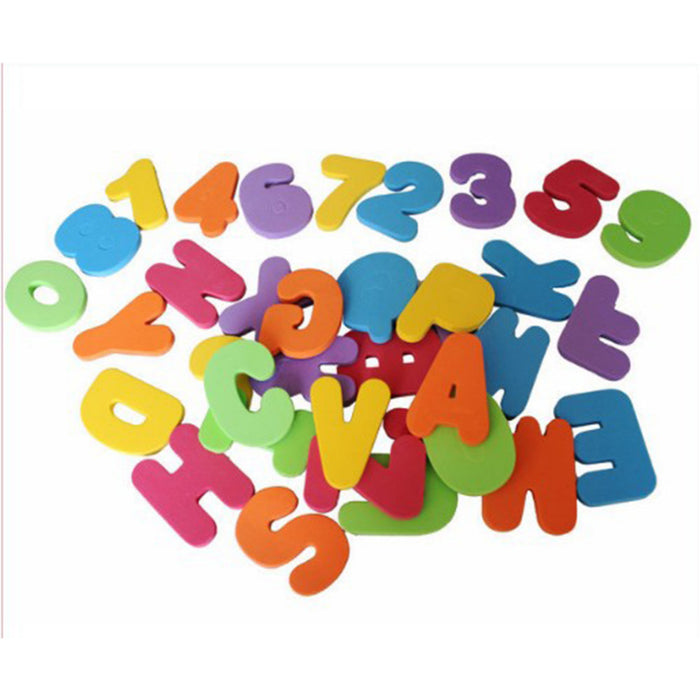 36 PCs Alphanumeric Letter Puzzle Soft Educational Bath Toys