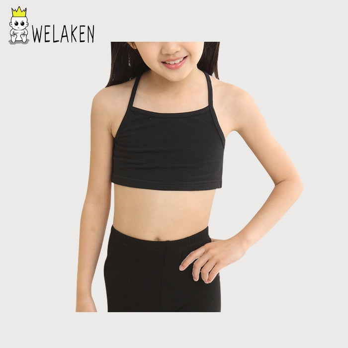 Casual Young Girls Training Bras Camisoles Solid Children's Clothing Sling Breathable Baby Tank Tops Soft Baby Girls Underwear - KiddyLanes