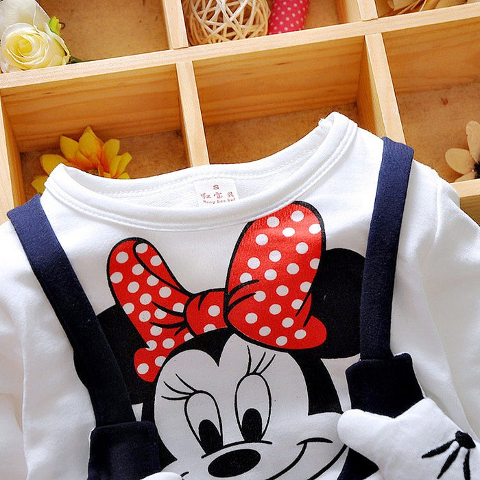 Baby Girls Dress Cute Long Sleeves with MiniMouse Dress - KiddyLanes