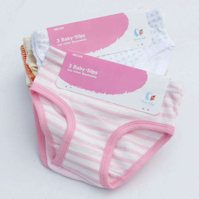 Soft Cotton Children Panties 3 Pcs/lot Girls' Briefs Female Kids Underwear baby girl panty Toddler Clothing High Quality - KiddyLanes