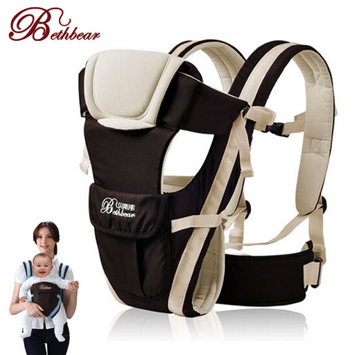 Beth Bear 0-30 Months Breathable Front Facing Baby Carrier 4 in 1 Infant Comfortable Sling Backpack Pouch Wrap Baby Kangaroo New - KiddyLanes