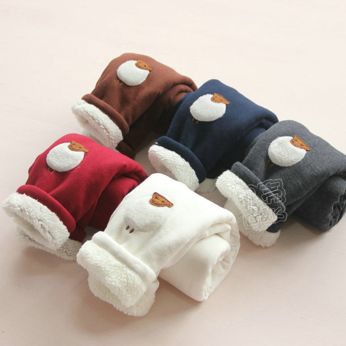 Plus Velvet Girl Kids Winter Pants new autumn  children casual trousers baby girls pants kids girl warm tracksuit pants - KiddyLanes
