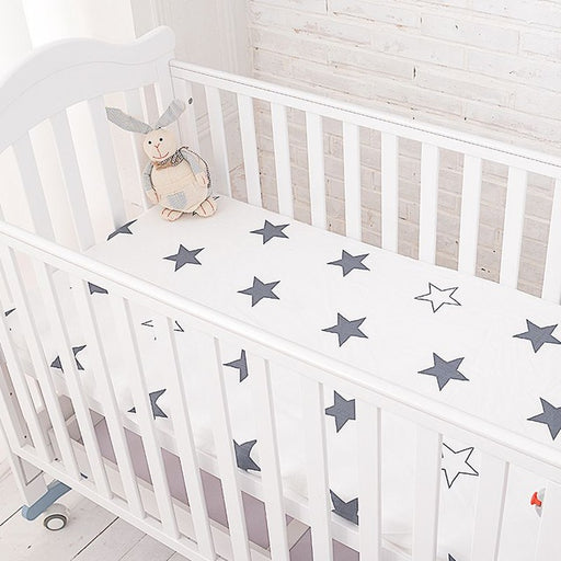 Muslinlife Cotton Baby Fitted Sheet Cartoon Crib Mattress Protector,baby bed sheet for crib size(130*70/120*60/120*65cm) - KiddyLanes