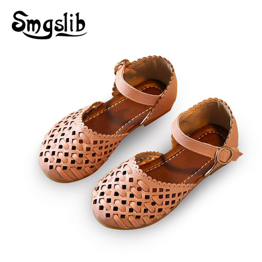 05869f9405cf Girls sandals Summer toddler gladiator sandals flat shoes Fashion children  shoes girls princess cut-outs
