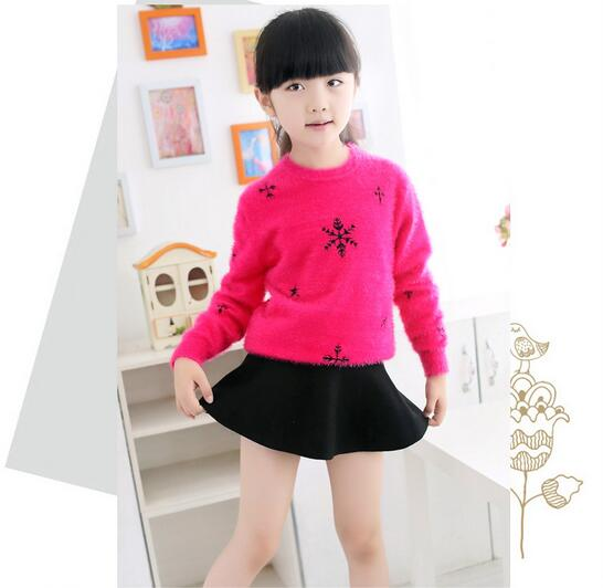 Spring Autumn Children Girls Clothing Fashion Casual Thicker Cardigan Cashmere Knitting Sweaters Kids Pullover Outwears - KiddyLanes