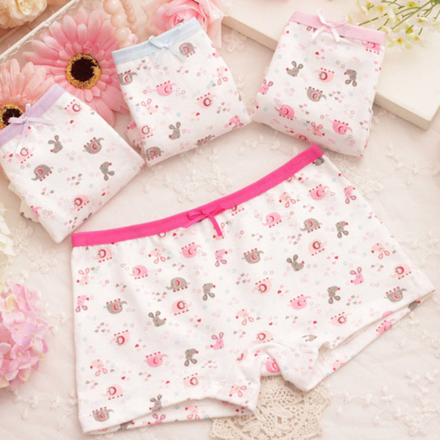 10 pcs/lot 2017 Children's cotton underwear female printed baby girls underwear boxer briefs panties - KiddyLanes