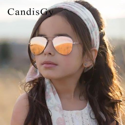 Kid Sunglasses Children Boys Girls Cute Mirror Baby Frame UV400 Mirror Pilot Fashion Eyewear Sun Glasses Small Size - KiddyLanes