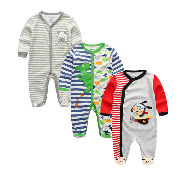 Summer Baby Clothing Girl Boy Sleepwear Cotton Cartoon Baby Girl Clothes Full Sleeve Newborn Blanket Sleepers Robes - KiddyLanes