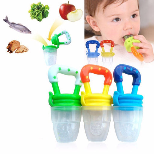 Newborn Babies Feeding Pacifier Multi-colored Baby Fresh Food Fruits Soup Feeder Dummy Soother Weaning Nipple - KiddyLanes