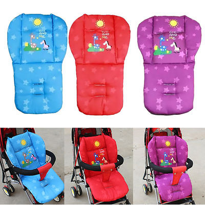 Winter New Baby Infant Stroller Cushion Giraffe Cartoon pattern Car Seat Pad Cotton Warm Thick Cart Cover Mats - KiddyLanes