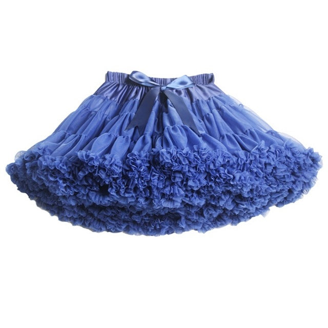 Buenos Ninos Fashion Tutus Skirt Baby Girls Fluffy Chiffon Pettiskirt For 1-10 Y - KiddyLanes