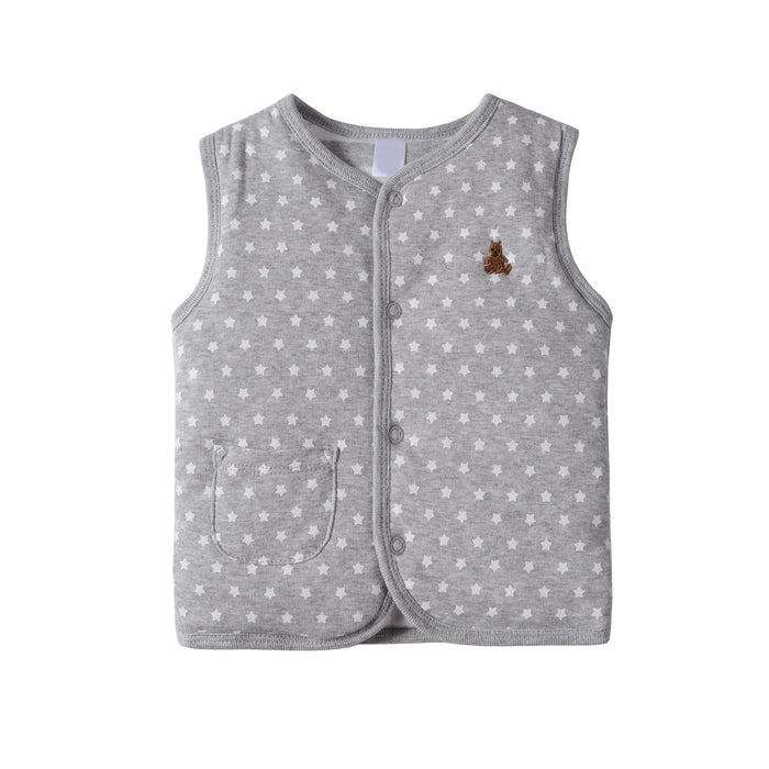Autumn Winter Double Cotton Vests Clip Cotton Infant Baby Clothing Unisex Children's Clothing B101 - KiddyLanes