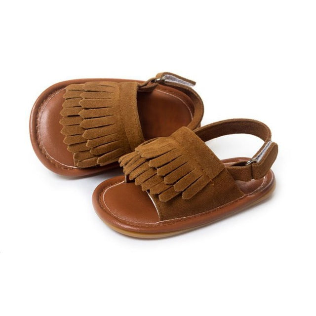 5eee232ddf6d0 Colors Hot Sale Baby Sandals Summer Leisure Fashion Baby Girls Sandals of  Children PU Tassel Clogs