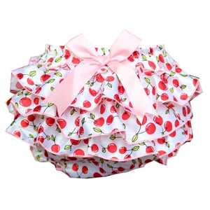 Ruffle Lace Baby Bloomers Diaper Cover | Tutu Ruffled Baby Girls Short