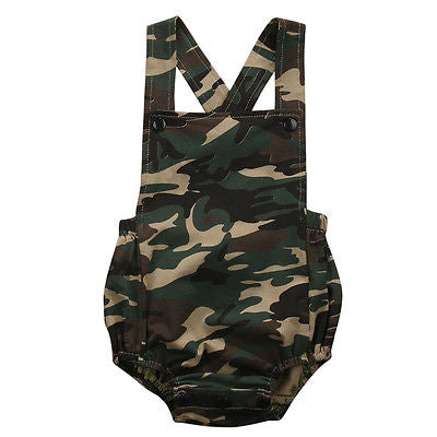 Camouflage Cotton Newborn Baby Boys Girls Romper Jumpsuit Kids Clothes Outfits - KiddyLanes