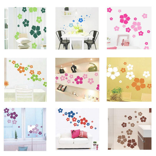 1 Pc Removable beautiful flowers wall sticker