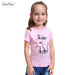 Fashion summer children brand domeiland clothing for kids girl short sleeve print cat cotton tee shirts tops baby clothes - KiddyLanes