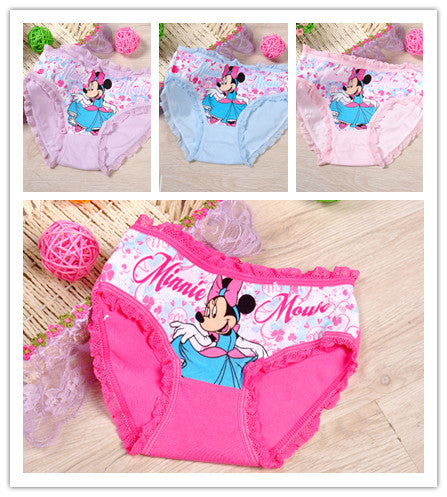 2pcs/lot fashion kids panties girls' briefs female child underwear lovely panties - KiddyLanes
