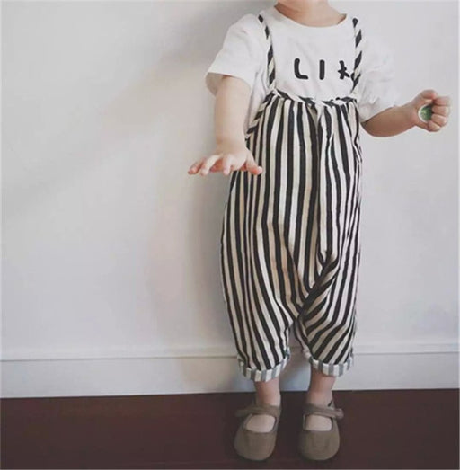 Unisex New Baby Girls Harem Pants Boys Kids Striped Trousers Romper Overalls Jumpsuit 0-4T Children's Boys Girls Clothing Sets - KiddyLanes