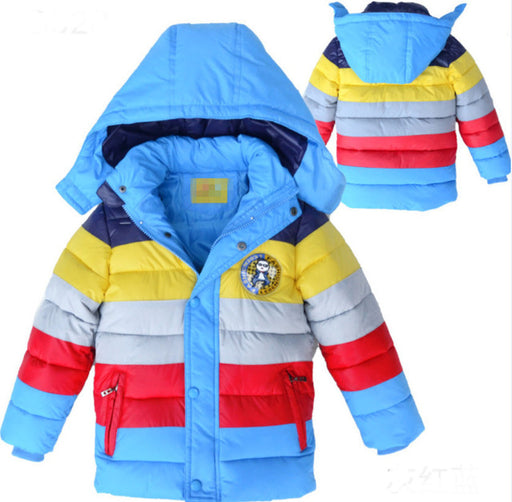 Baby Winter Coat Kids warm outerwear Hooded Coat for 2-7 yrs Children Clothes - KiddyLanes