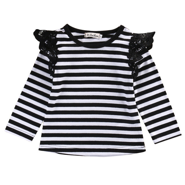 Flying Tee Long Sleeve T-shirts Baby Girls - KiddyLanes