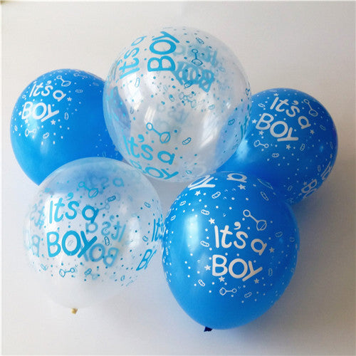 30pcs /lot Happy birthday decoration balloon clear Blue balloon Helium  Balloons It is boy Baby 1st Birthday latex balloons - KiddyLanes