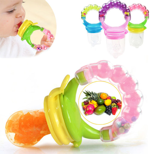 1Pcs Fresh Food Nibbler Baby Pacifiers Feeder Kids Fruit Feeder Nipples Feeding Safe Baby Supplies Nipple Teat Pacifier Bottles - KiddyLanes