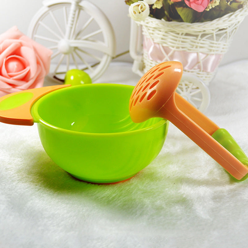 1Set/2PCS Baby Kids Learnning Dishes Grinding Bowl Handmade grinding food supplement making set - KiddyLanes
