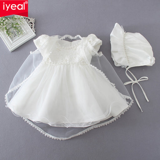 991733c57753 IYEAL High Quality Princess Newborn Baby Girl Dress Baptism Birthday Christening  Gown for Infant Pageant Dresses