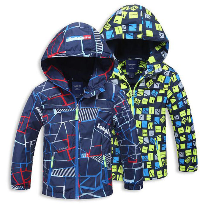 Spring Autumn Polar Fleece Children Outerwear Warm Sporty Kids Clothes Waterproof Windproof Boys Jackets For 4-12T 2 Colors - KiddyLanes