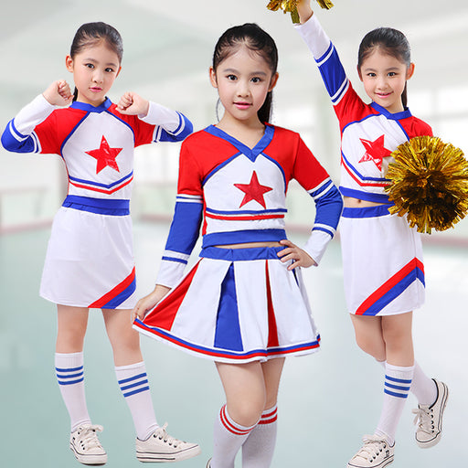 Children Academic Dress Primary School Uniforms Set Girl Cheerleader Cheer Leaders Costume Boy Aerobics Clothing Uniforms - KiddyLanes