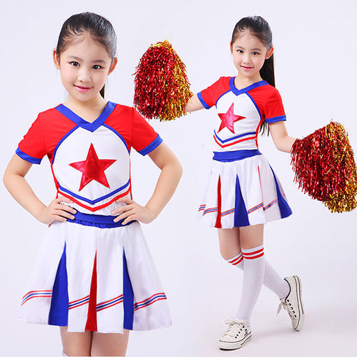 New Kid Children Academic Dress Primary School Uniforms Set Kid Student Costumes Girl Boy Dr Suit Graduation Cheerleader Suits - KiddyLanes