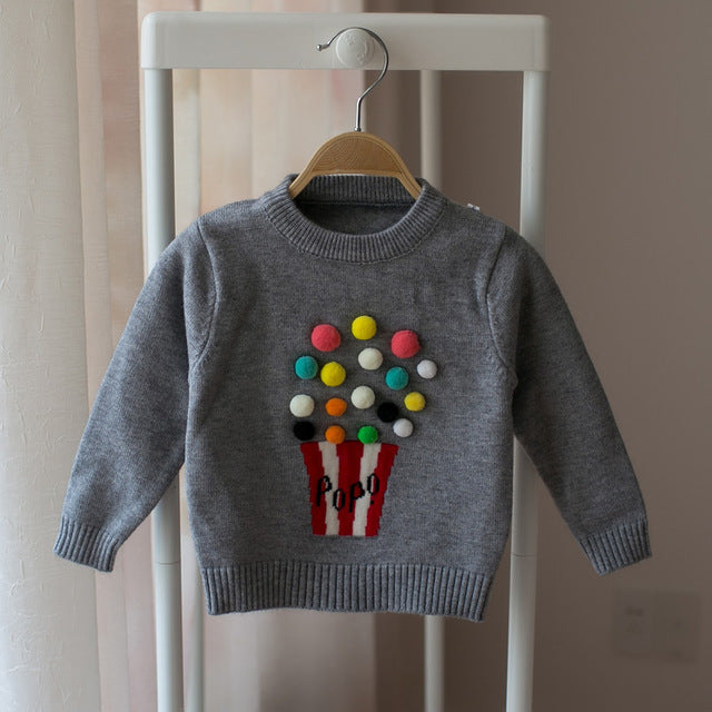 Milancel Autumn Baby Girls Sweater Kids Knitwear Popcorn Sweaters For Girls Baby Knitted Sweater Girls Pullover  Clothes - KiddyLanes