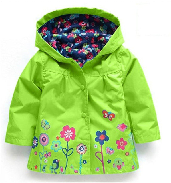 VIMIKID Hooded Girls Jacket for Girl Coat Kids Winter Outwear Coats Clothes Spring Autumn Fashion Children Raincoat Coat - KiddyLanes