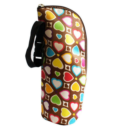 Baby Multicolor Thermal Feeding Bottle Warmers Mummy Tote Bag Hang Stroller cloth aluminium film - KiddyLanes