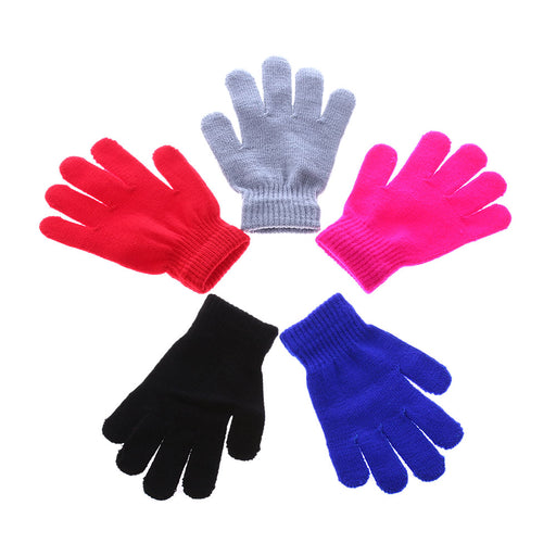 1Pair HOT Children Magic Glove Girls Boys Kid Stretchy Knitted Winter Warm Pick Gloves Mixed Color Knitted Gloves - KiddyLanes