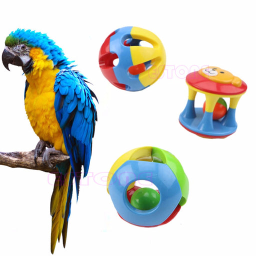 Parrot Chew Pet Bird Bites Swing Cage Hanging Cockatiel Parakeet Chain Ball Toys Swing Cage Hanging Cockatiel Pet Products - KiddyLanes