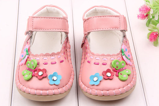 High Quality PU Leather Flower Baby Girl Princess Shoes Kid Shoes 1-3 Years - KiddyLanes