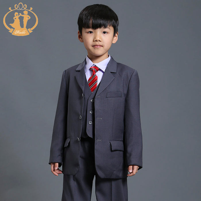 Nimble boys suits for weddings grey suit for boy traditional Formal Bl