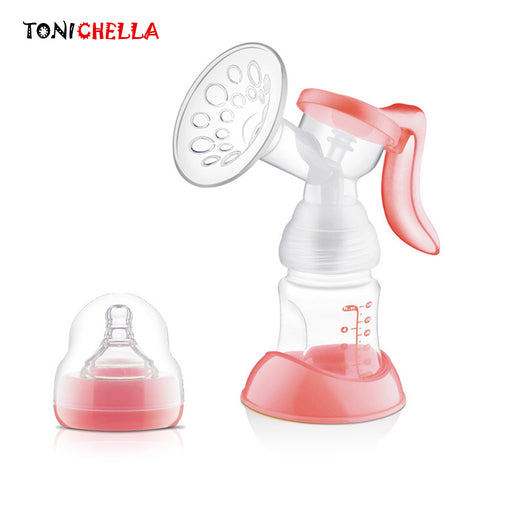 Manual Breast Feeding Pump Original Manual Breast Milk Silicon PP BPA Free With Milk Bottle Nipple Function Breast Pumps T0100 - KiddyLanes
